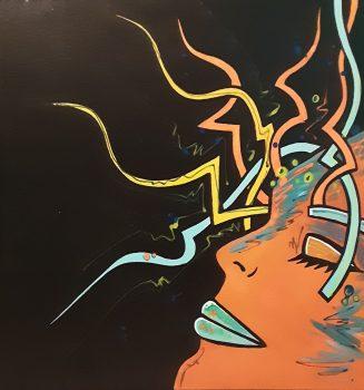02Portrait(50x50cm-acrylique dur toile) DISPONIBLE Contacter l'Artiste