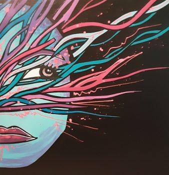 06Portrait(50x50cm-acrylique dur toile) DISPONIBLE Contacter l'Artiste
