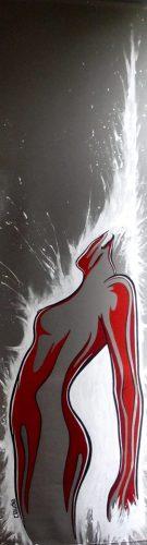 Extase 05(52x190cm-acrylique sur store)DISPONIBLE ATELIER Contacter l'Artiste