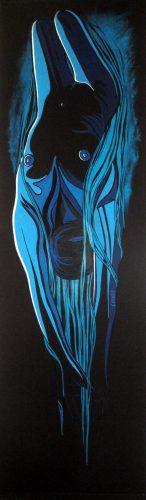 Extase 11(52x190cm-acrylique sur store)