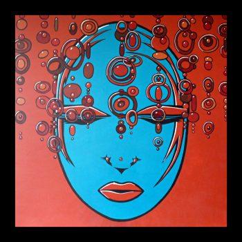 LOUNA (1mx1m-acrylique sur toile)DISPONIBLE ATELIER Contacter l'Artiste