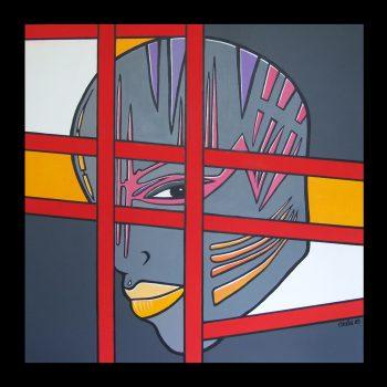 MONDO (1mx1m-acrylique sur toile)DISPONIBLE ATELIER Contacter l'Artiste